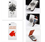 For iPhone 5 Case Embossed Case Full Body Case Cartoon Hard PU Leather iPhone SE/5s/5