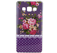 Purple Flower Pattern IMD+TPU Back Cover Case for Samsung Galaxy A5