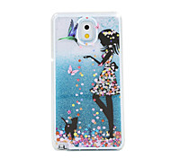 The Bird Girl Painted Quicksand PC Phone Case For Samsung Galaxy Note3/Note4/Note5 + A Touch Screen Pen