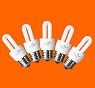 5 pcs fsl E26/E27 T3 2U 5W 240LM 6500K Cool White Light CFL Bulbs (AC220V)