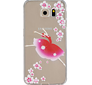 Flower girl Pattern TPU Relief Back Cover Case for Galaxy S5/Galaxy S6/Galaxy S6 edge/Galaxy S6 edge Plus