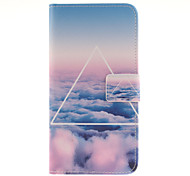 The sky clouds Pattern PU Leather Full Body Case with Card Slot for Samsung Galaxy A9/A9000