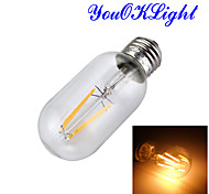 YouOKLight® E27 4W T45 COB LED Vintage Antique Retro Edison Clear Glass Warm White Light Bulb AC220V