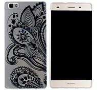 Mobile Shell funda protectora cáscara suave de TPU transparente patrón de flor botánica para Huawei p8 Lite