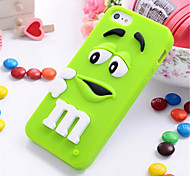 3D Colorful Candy Color Cute Lovely M&M Silicone Cell Phone Soft Case Cover For iPhone 5/5S (Assorted Colors)