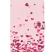 Pink Hearts Folio Leather Stand Cover Case With Stand for Samsung Galaxy Tab 3 Lite 7.0 T110 T111