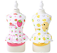Dog Coat / Clothes/Jumpsuit Yellow / Pink Dog Clothes Summer Fashion
