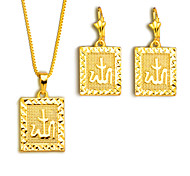Fashion men jewelry Pendants Necklaces Earrings Set 18K Gold Plated India Jewelry Sets gifts S20148