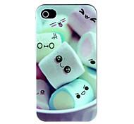 caso duro algodão doce padrão de teste padrão para iPhone 4 / 4S