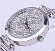 New Mashali Wristwatches Quartz-Watches High-Grade Stainless Steel Strap Large Diamond Dial Trend