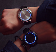2016 Fashion LED Touch Screen Watch Luminous Light-Emitting Strap Students Lovers Watches (Assorted Color)