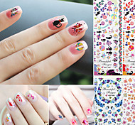 Nail Sticker Water Transfer Cartoon/Flower/Lips/Animal DIY Tips Nails Beauty Manicure Nail Decals