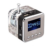 Digital-beweglicher Minilautsprecher-Musik-MP3 / 4 Player Micro SD / TF USB-Festplatte Lautsprecher fm Radio-LCD-Display