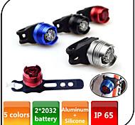 Luzes de Bicicleta , Luzes da cauda / luzes de segurança - 3 Modo 80 Lumens Imperme+avel CR2032 x 2pc CR2032 battery Bateria Ciclismo/Moto