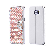 Luxury Bling Crystal & Diamond PU Leather Flip Bag For Samsung Galaxy S3/S4/S5/S6/S6E/S7/S6E Plus