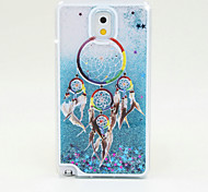 Wind Chime Painted Quicksand PC Phone Case For Samsung Galaxy Note3/Note4/Note5 + A Touch Screen Pen