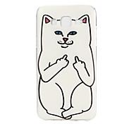 White Cat Finger Pattern TPU Soft Case Phone Case for Samsung Galaxy J5/ GALAXY Core Prime