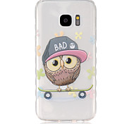 For Samsung Galaxy Case Translucent Case Back Cover Case Owl TPU SamsungS7 / S6 edge / S6 / S5 Mini / S5 / S4 Mini / S4 / S3 Mini / S3 /