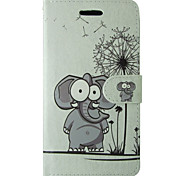 Cute Elephant Design PU Cover for IPhone 6 Iphone6S