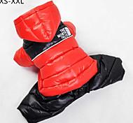 Dog / Cat Coat Red / Green / Blue / Pink Winter Sport Keep Warm