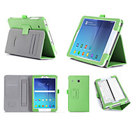 Stand Hand Strap Luxury PU Leather Case Wallet Cover for Samsung GALAXY Tab E 8.0