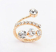 Women's European Simple Fashion Shiny Rhinestone Ring