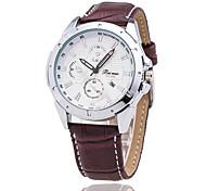 Xu™ Men's Fashionable High-end Calendar Business Leather Quartz Watch Wrist Watch Cool Watch Unique Watch