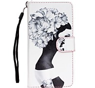 Girl Pattern PU Leather Full Body Case with Stand for Samsung Galaxy S5/S6/S6Edge/S7