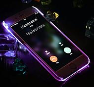 luxo material impermeável pc respirável luzes LED Flash para entrada de telefone chamadas para iphone 6 / 6s (cores sortidas)