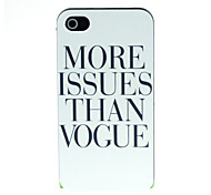 Black letters in white Pattern Hard Case for iPhone 4/4S