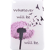 Dandelion Pattern TPU Soft Back Tablet Case for iPad Mini 4