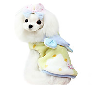 Dog Hoodie Yellow / Pink Dog Clothes Spring/Fall Bowknot Fashion