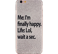 Silver Stars Pattern TPU Soft Case Phone Case for iPhone 6/6S