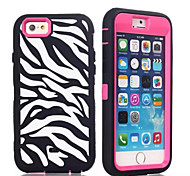 Laser Carving Zebra Pattern TPU + PC Material Phone Case for iPhone 6/6S