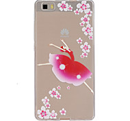 Dancing girl  Pattern TPU Phone Case for Huawei P8 Lite