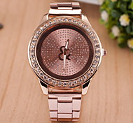 Women Fashionable Quartz Wrist Fashion Watch Diamond Alloy Band