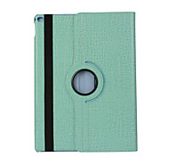 360 Degree Crocodile Pattern PU Leather Flip Cover Case for iPad Air 2 (Assorted Colors)