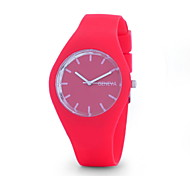 Women's Ladies Fashion Geneva Silicone Jelly Watches Quartz Watch Silicone Band