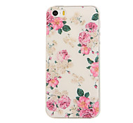 Flower Pattern TPU Soft Case for iphone5/5S
