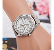 Europe hot Swiss quartz couple watches fashion flowers alloy diamond watch foreign trade explosion models trend of steel