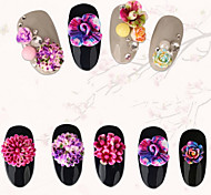 20PCS Different Styles  Blooming Resin Flower Nail Art Decorations