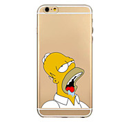 Anime Yellow People Pattern TPU Transparent Soft Shell Phone Case Back Cover Case for iPhone6/6S