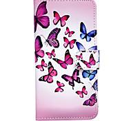 motif papillon en relief pu étui en cuir pour 6s iphone 6 / iphone
