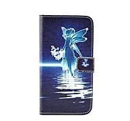patrón de diamante ángel pintado caja del teléfono de la PU para la galaxia A310 / A510 / A710 / a9