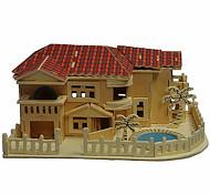 casa de madera de playa 3d rompecabezas juguetes de bricolaje