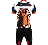 PaladinSport Men 's Cycyling Jersey + Shorts Bike Suits for DT623 tiger