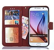 2 in 1 abnehmbarer Magnet Leder Stand-Telefonbeutelabdeckung mit Fotoschlitz Fall für Samsung s6 / s6 Rand / s6 Rand +