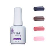 ILuve Gel Nail Polish Set - Pack Of 4 - Long Lasting 3 Weeks Soak Off UV Led Gel Varnish – For Nail Art #4013