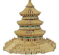 3d bâtiment puzzles modèle intelligence jouets éducatifs pour bois puzzle enfants le temple du ciel