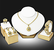 Women Party Alloy Necklace / Earrings / Bracelet / Ring Sets